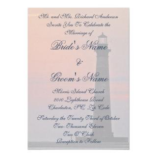 Lighthouse Background Wedding Invitations