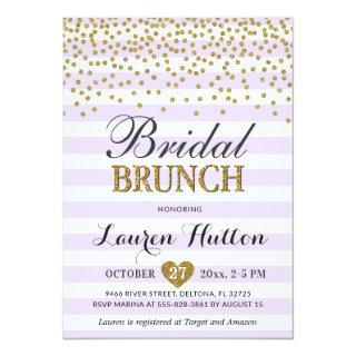 Lilac Gold Bridal Brunch Invitations Cards Mimosa