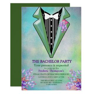 Lilac Purple Forget-me-not Bachelor Party Invitation
