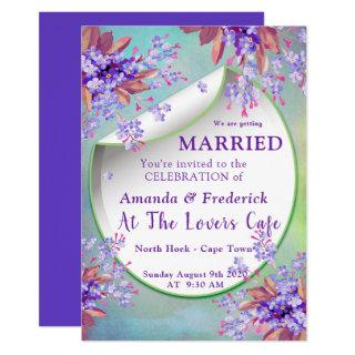 Lilac Purple Forget-me-nots WEDDING Invitations