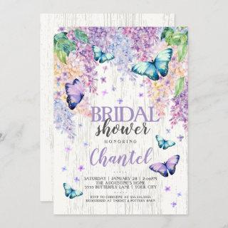 Lilacs and Butterfly | Bridal Shower Invitation
