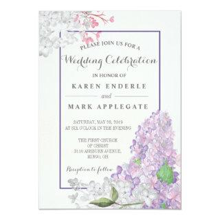 Lilacs in Bloom Spring Wedding Invitation