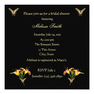 Lilies and Butterflies bridal shower Invitations