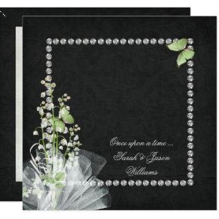 Lilies and Diamonds Vow Renewal Invitation