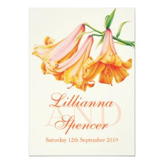 Lily bell art wedding flower wedding invite