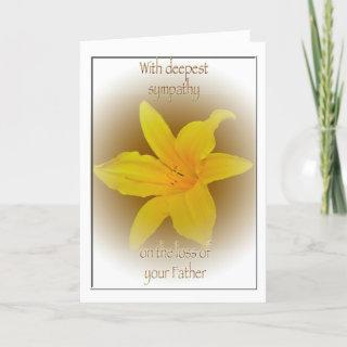 Lily Loss of Father Sympathy Card