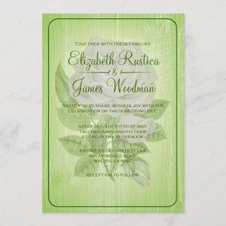 Lime Green Rustic Floral Wedding