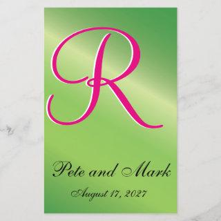 Lime Green Stylized Budget Wedding Invitations