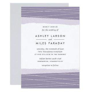 Lineation Wedding Invitations | Amethyst