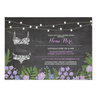 Lingerie Shower Bachelorette Purple Bridal Invite