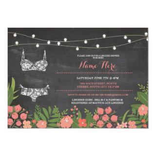 Lingerie Shower Bridal Bachelorette Coral Invite