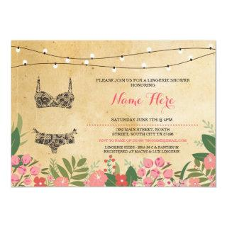 Lingerie Shower Bridal Bachelorette Party Invite