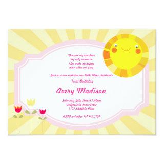 Little Sunshine Summer Spring Baby Shower birthday Invitation