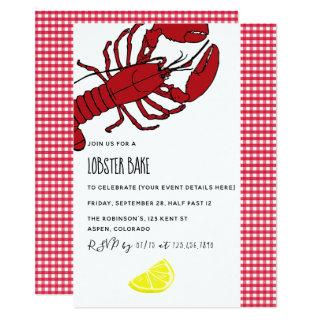 Lobster Bake/Boil Party customized Invitations