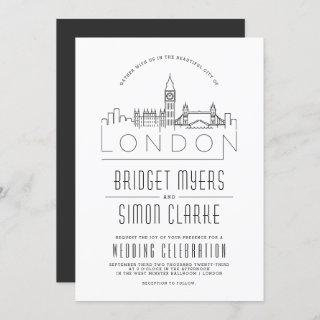 London Wedding | Stylized Skyline Invitations