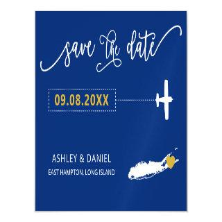 Long Island NY Wedding Save the Date Card, Map Magnetic Invitation
