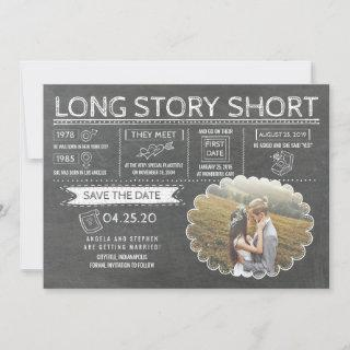 Long Story Short | Funny | Photo Save the Date