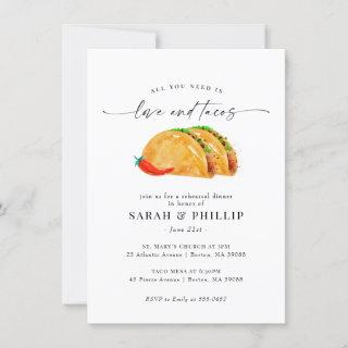 Love and Tacos Rehearsal Dinner Invitations