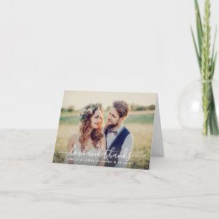Love and Thanks | Wedding Photo Thank You Card
