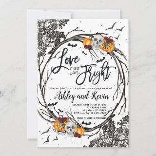 Love at First Fright Engagement Party Invitations