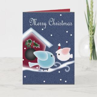 Love Birds Our First Christmas Long Distance Holiday Card