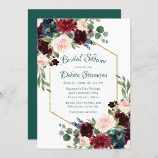 Love Bloom | Bold Floral Wreath Bridal Shower Invitations