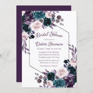 Love Bloom | Eggplant Moody Purple Bridal Shower Invitations