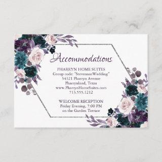 Love Bloom | Eggplant Purple Moody Floral Details Enclosure Card