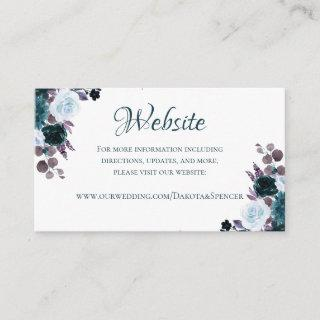 Love Bloom | Teal Purple Moody Floral Website Enclosure Card