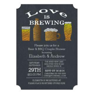 Love Brewing Barbecue Bridal Shower Invitations