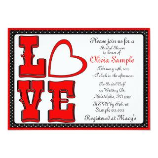 Love Bridal Shower Invitation