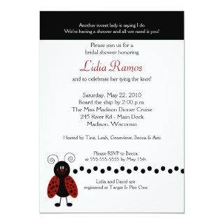 Love Bug Ladybug 5x7 Bridal Shower Invite