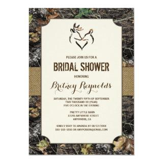 Love Deer Hunting Camo Bridal Shower Invitations