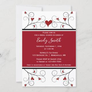 Love Grows | Red Hearts Bridal Shower