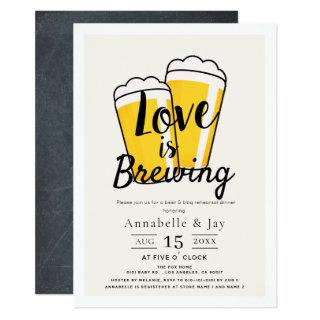 Love is Brewing Beer BBQ Rehearsal Dinner Invitations