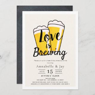 Love is Brewing Beer BBQ Rehearsal Dinner Invitation