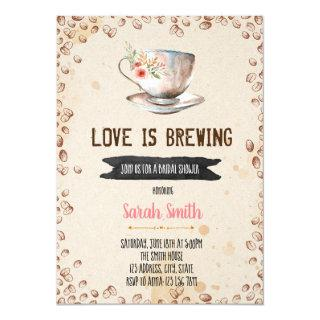 Love is brewing bridal shower Invitations