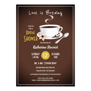 Love Is Brewing Coffee Bridal Invitations