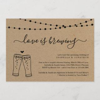 Love is Brewing Couples Bridal Shower Invitations