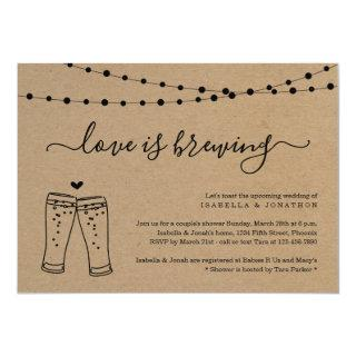 Love is Brewing Couples Bridal Shower Invitation