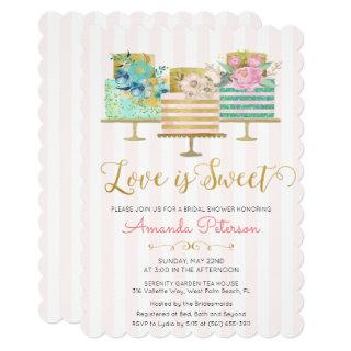Love is Sweet Bridal Shower Invitation