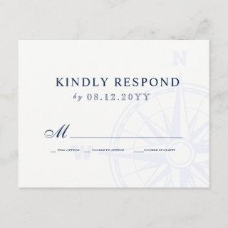 Love Sets Sail Nautical Wedding RSVP