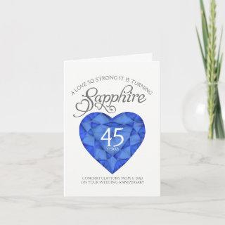 Love so strong sapphire 45th anniversary card