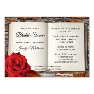 Love Story Romance Book Bridal Shower Invitation