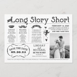 Love Story Timeline Fun Save the Date Photo Invitations