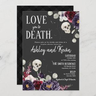 Love You To Death Couples Shower Invitations