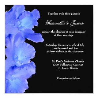 Lovely Blue Orchid Wedding Invitation