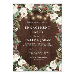 Lovely rustic winter engagement party Invitations