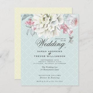 Low Budget Wedding Mixed Floral Mint Yellow Pink