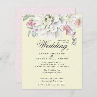 Low Budget Wedding Mixed Floral Pastel Yellow Pink
